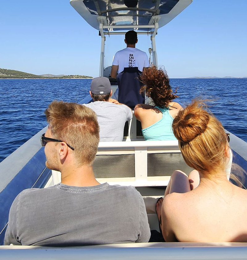 Archipelago Tours -Kornati Experience Private Tour photo capturing tourist and skipper on the boat