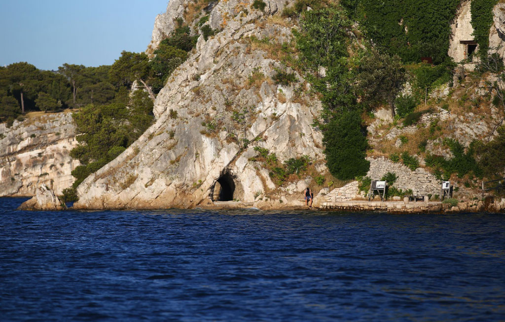 Archipelago Tours Blog and Tips: The eyes - Sibenik military sea tunnel in St Anthony Channel exterior