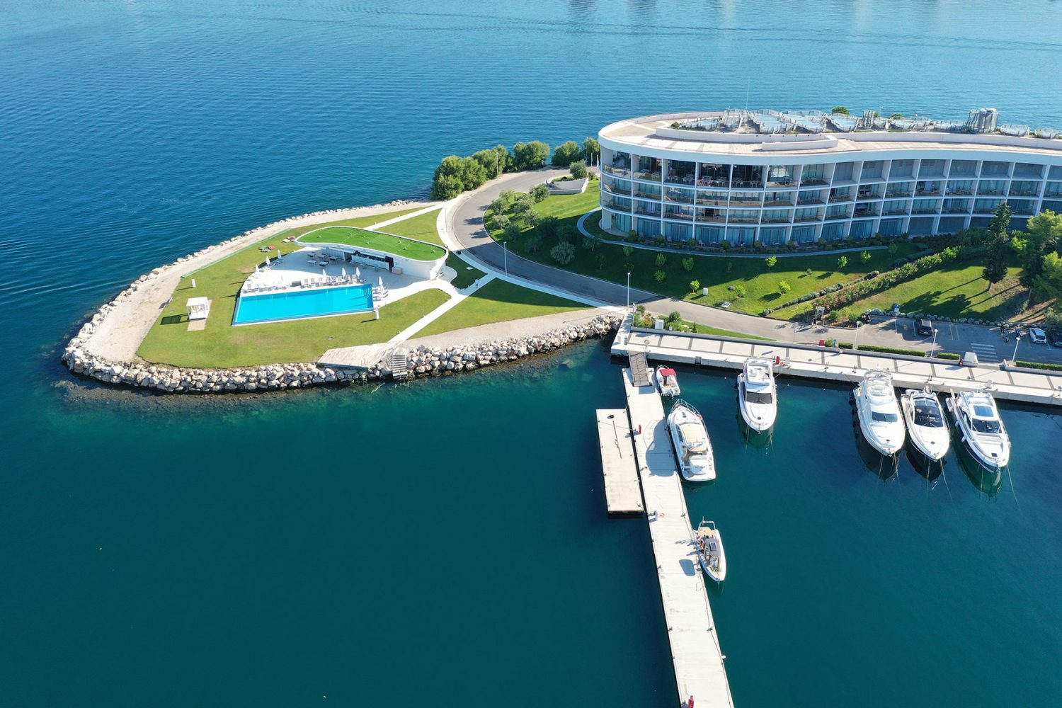 Archipelago Tours Kornati Experience Small Group Tour photo of pick up point in D-resort taken from air