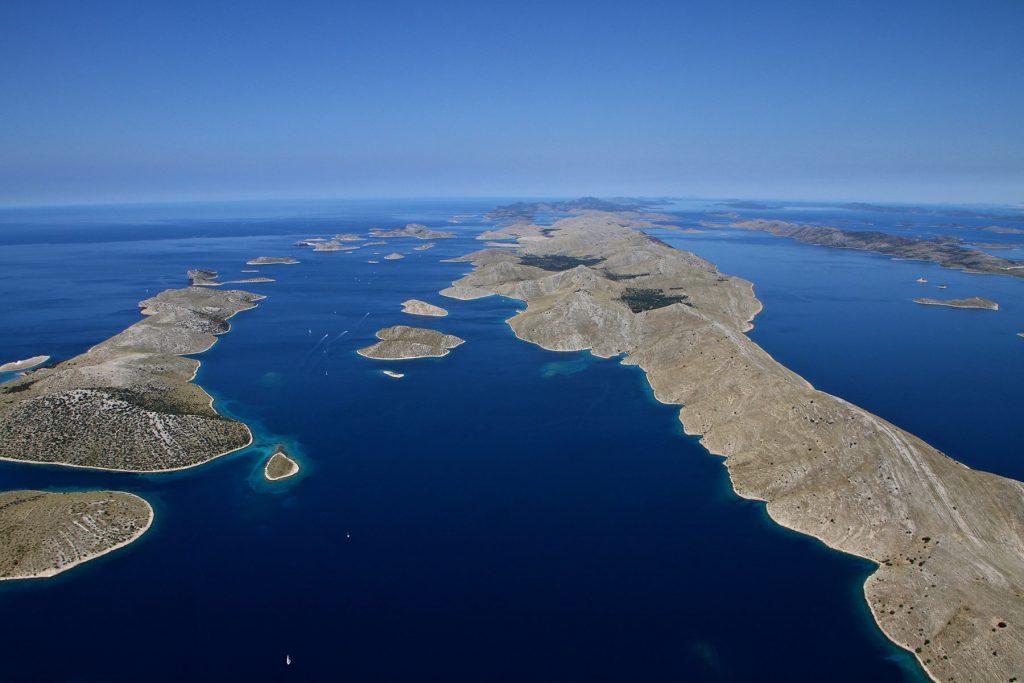 Archipelago Tours Croatia Sibenik boat tour - Kornati National Park photo of the archipelago taken from the air
