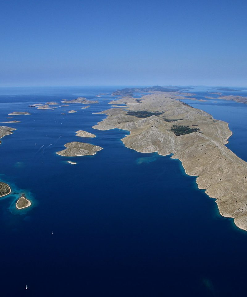 Archipelago Tours Croatia Sibenik boat tour - Kornati National Park photo of the archipelago taken from the air
