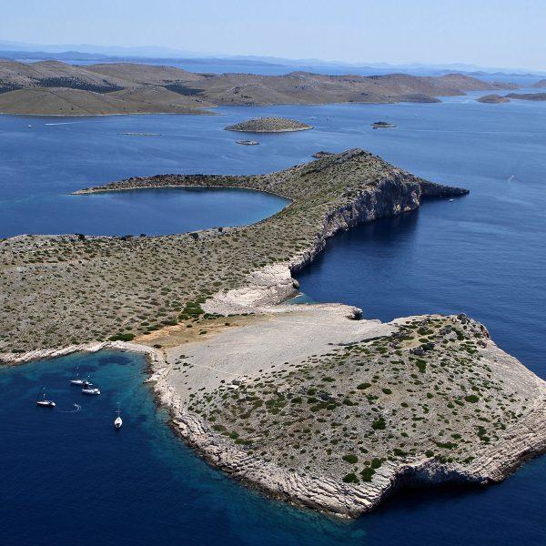 Archipelago Tours Croatia Sibenik boat tour - Kornati National Park Mana photo taken from the air