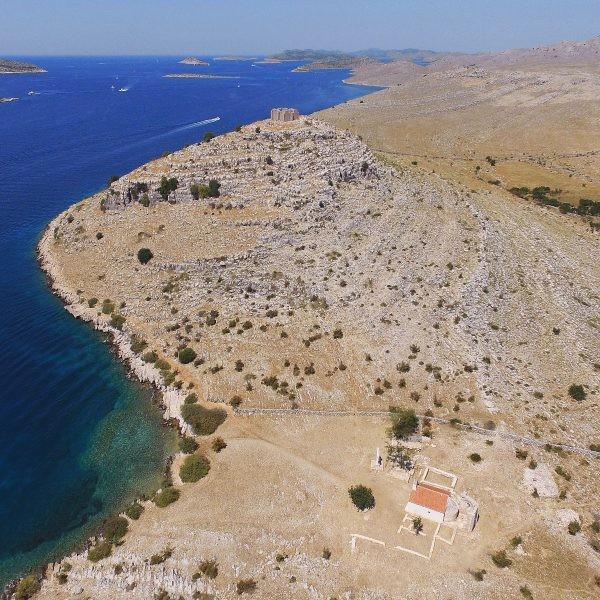 Archipelago Tours Croatia Sibenik boat tour - Kornati National Park Tarac photo taken from the air
