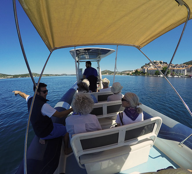 Archipelago Tours Speedboat tours from Sibenik - About us photo of the guide, skipper and tourists on board